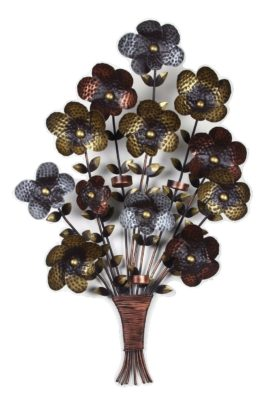 ELEGANT METAL WALL DECOR BOUQUET
