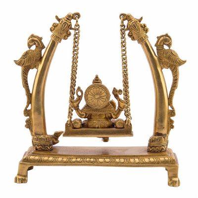 Mohanjodero Brass Lord Ganesha on Swing Idol/Lord Ganesha Statue