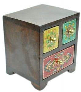 MohanJodero Wooden Handicraft Wooden Chest of Drawer