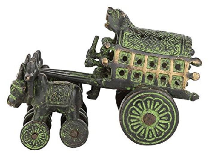 brass antique bullock cart