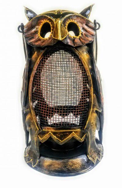 MohanJodero Metal Owl Lantern/Owl Tea Light Holder