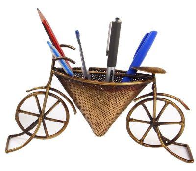 Mohanjodero Metal Handicraft Cycle Shaped Pen Holder