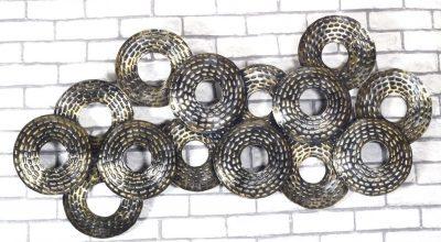 MohanJodero Metal Hanging Decorative Wall Art Hammered Circle