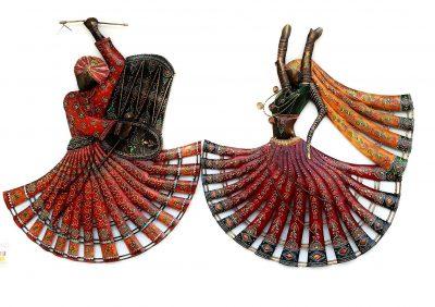 Metal Handicraft Rajasthan Lahriya Dancing Wall Decor Metal Art