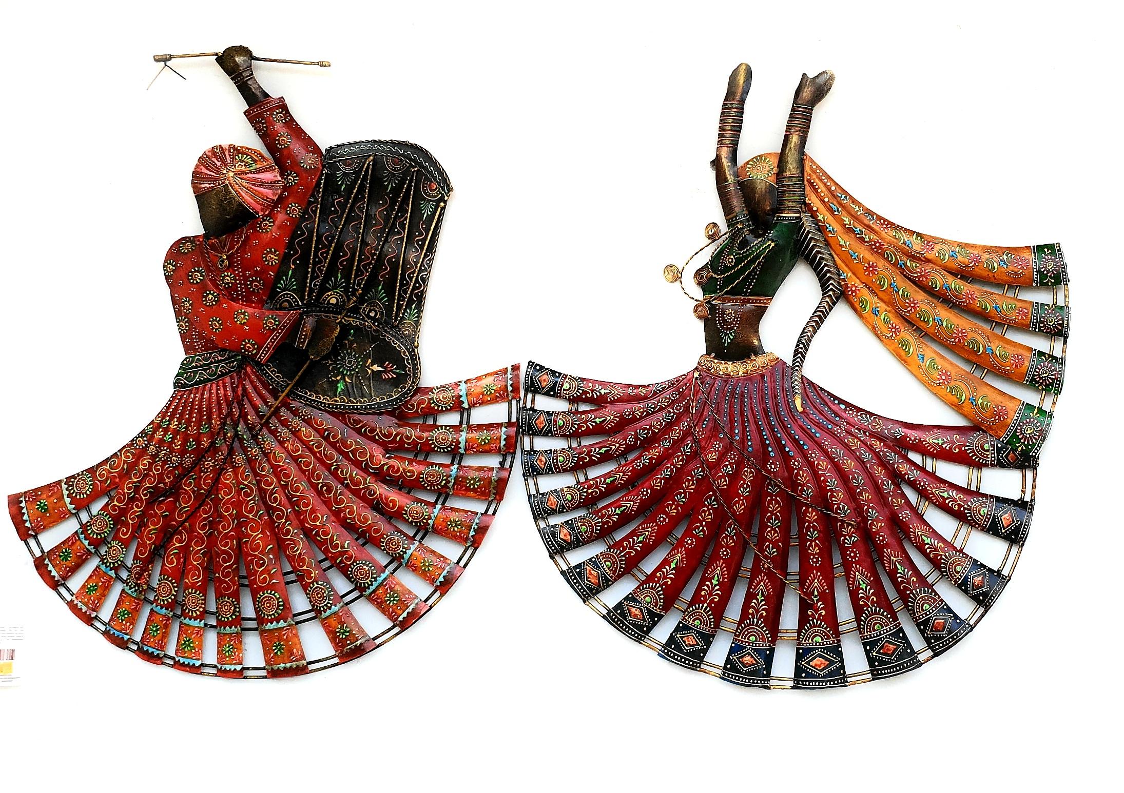 Metal Handicraft Rajasthan Lahriya Dancing Wall Decor Metal Art Buy Indian Handicrafts Online I Handicrafts Of India