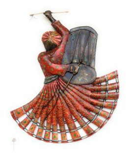 Metal Handicraft Rajasthan Lahriya Dancing Wall Decor Metal Art