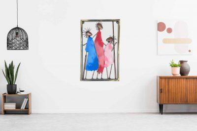 MohanJodero Elegant Wall Decor Metal Art Tribal Family Frame