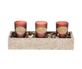 MohanJodero Resin Handicraft Glass Tea Light Holder