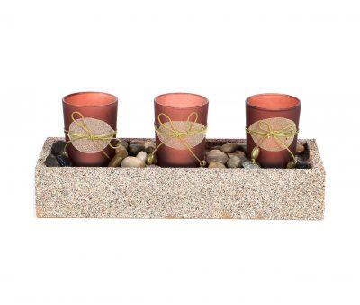 MohanJodero Resin Handicraft Glass Tea Light Holder