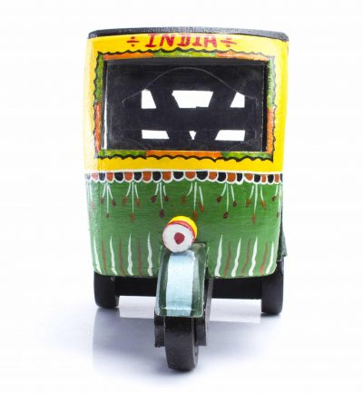Elegant Wooden Rajasthan Handicraft Wooden Auto Rickshaw/Tuk Tuk/Souvenir