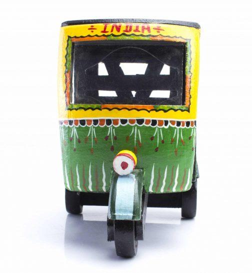 wooden autorickshaw