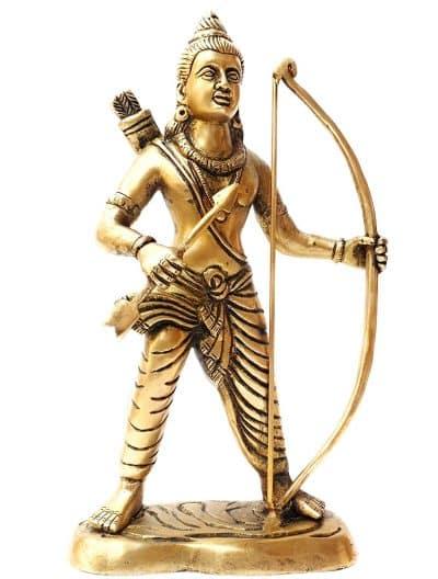 Brass Lord Ram Idol/Rama Statue/Bhagwan Ram Murti