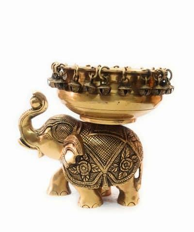 Brass Elephant Urli